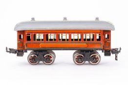 Bing Schlafwagen, S 0, CL, mit 4 AT, Inneneinrichtung (NV) und Gussrädern, LS und Alterungsspuren, L