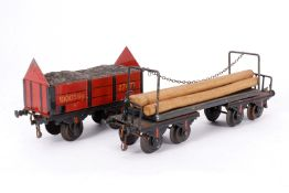 2 Bing Güterwagen, S 1, uralt, HL, tw ÜL, LS, Z 3