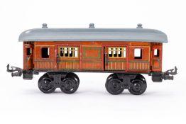 Bing Gepäckwagen, S 0, CL, mit 4 AT und 4 ST, tw ÜL, LS und Alterungsspuren, L 22,5, Z 4
