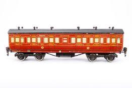 Leeds Model Personenwagen 840 NER, S 0, Holz/Blech, rot, LS und Alterungsspuren, L 33, Karton, Z 3