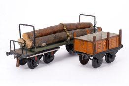 2 Bing Güterwagen, S 1, uralt, ÜL, NV, Z 4