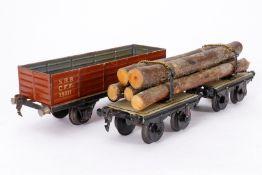 2 Märklin Güterwagen, S 1, HL, tw ÜL, LS, Z 3