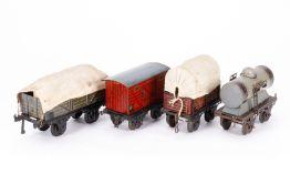 4 Güterwagen, S 1, CL, LS, Z 4