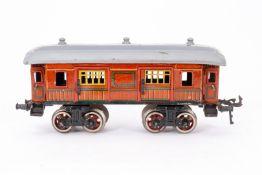Bing Gepäckwagen, S 0, CL, mit 4 AT, 4 ST und Gussrädern, NV, LS und Alterungsspuren, L 22,5, Z 3