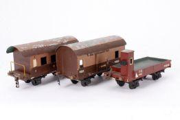 3 italienische Wagen, S 0, Holz/Metall, HL, LS, L 17,5, Z 3