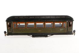 Märklin Personenwagen 1886, S 1, CL, mit 4 AT, ohne Drehgestelle, NV, L 33,5, Z 4