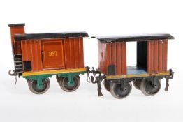 2 Märklin Güterwagen, S 1, uralt, meist ÜL, Z 4