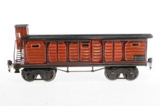 Märklin gedeckter Güterwagen 1956, S 1, HL, mit BRHh und 4 ST, LS, tw ausgebessert, gealterter Lack,