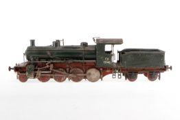 """Franz. 1-D Dampflok """"FS 7305"""", Spurweite 54mm, Metall, HL, ohne Antrieb, mit Tender, Z 4"""