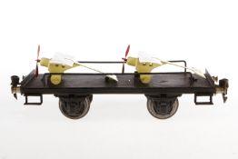 Märklin Plattformwagen 1999, S 1, HL, mit 2 Replik-Tauben, L 24, Z 4