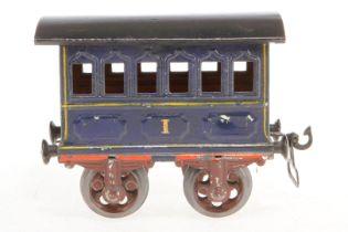 Märklin Personenwagen, S 1, uralt, blau, HL, L 12, Z 4