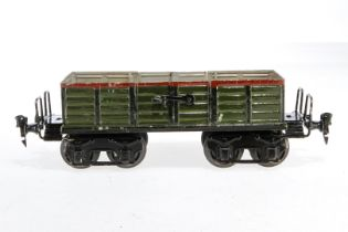 Märklin offener Güterwagen 1845, S 1, uralt, HL, mit 2x 2 LTH, LS und gealterter Lack, L 26, Z 2-3