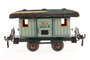 Märklin Packwagen 1823, S 1, uralt, HL, mit 2 AT und 2 ST, UV-Blender, L 21,5