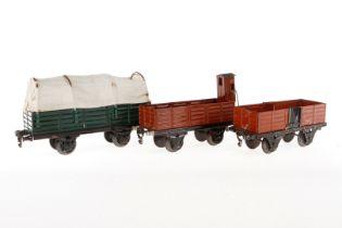 3 Märklin Güterwagen, S 1, HL, Z 4