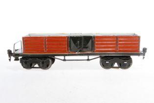 Märklin offener Güterwagen 1951, S 1, HL, mit 2x 2 LTH, LS und gealterter Lack, L 31,5, Z 2-3