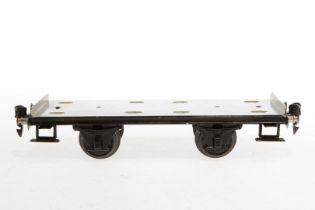 Märklin Plattformwagen 1766, S 1, HL, ohne Blechauto, LS und gealterter Lack, L 24, sonst noch Z 2