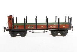 Märklin Rungenwagen 1852, S 1, HL, mit BRH, kleine Ausbesserung am Bremserhaus, LS und gealterter