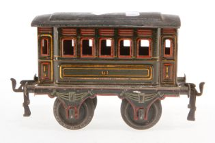 Märklin Personenwagen 1861, S 1, uralt, HL, LS, L 14,5, Z 3
