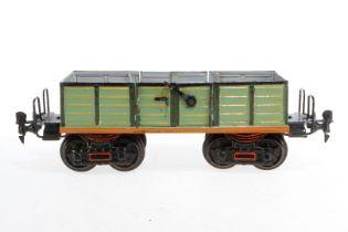 Märklin offener Güterwagen 1845, S 1, HL, mit 2x 2 DTH, Ausbesserungen im Schwarzbereich, LS und