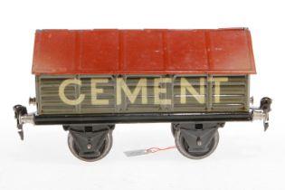 Märklin Zementwagen 1919, S 1, HL, LS und gealterter Lack, L 19,5, im tw besch. OK, sonst noch Z 2