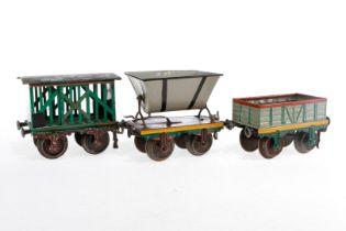 3 Märklin Güterwagen, S 1, ÜL und ergänzt