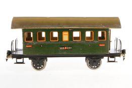 Märklin schweizer Personenwagen 1807, S 1, CL, mit 2 AT, 2 Stirnseiten- gibel fehlen, Räder