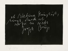 Joseph Beuys u. Jonas Hafner. Schwelle.