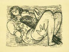 Max Beckmann. Frau mit Fisch.