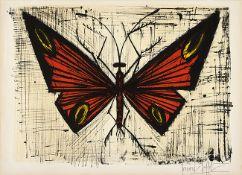 Bernard Buffet. Le papillon rouge et jaune.