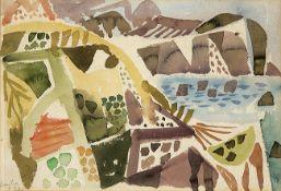 Eduard Bargheer. Landschaft mit Kap.