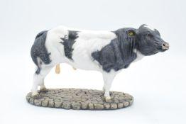 Boxed Sherratt and Simpson farming figure 'Belgian Blue Bull'