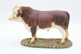 Boxed Sherratt and Simpson farming figure 'Hereford Bull'