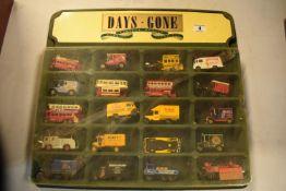 Days Gone /Lledo Vintage Models display unit together with 20 vehicles (21)