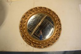Wooden porthole mirror, mid 20th century by Hibbert Bros