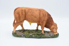Boxed Sherratt and Simpson farming figure 'Limousin Bull'