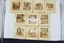 Newhall Pottery of Hanley Dickens wall plaques
