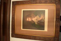 Large Art-Deco wooden frame