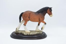 Boxed Country Artists countryside figure of a Clydesdale horse