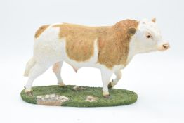 Boxed Sherratt and Simpson farming figure 'Simmental Bull'