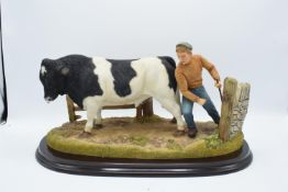 Boxed Country Artists countryside figure of a Holstein Bull- 'Standing Four Square'