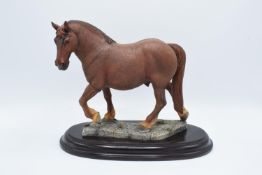 Boxed Country Artists countryside figure of a Suffolk Punch horse
