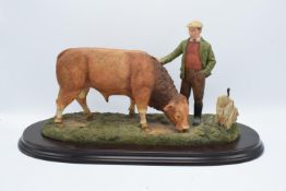 Boxed Country Artists countryside figure of a Limousin Bull- 'The Champions Reward'