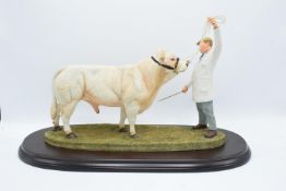 Boxed Country Artists countryside figure of a Charolais Bull - 'The Best in Show'