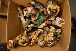 A mixed collection of items to include: Capi di MOnte figures and similar items (mostly damaged)
