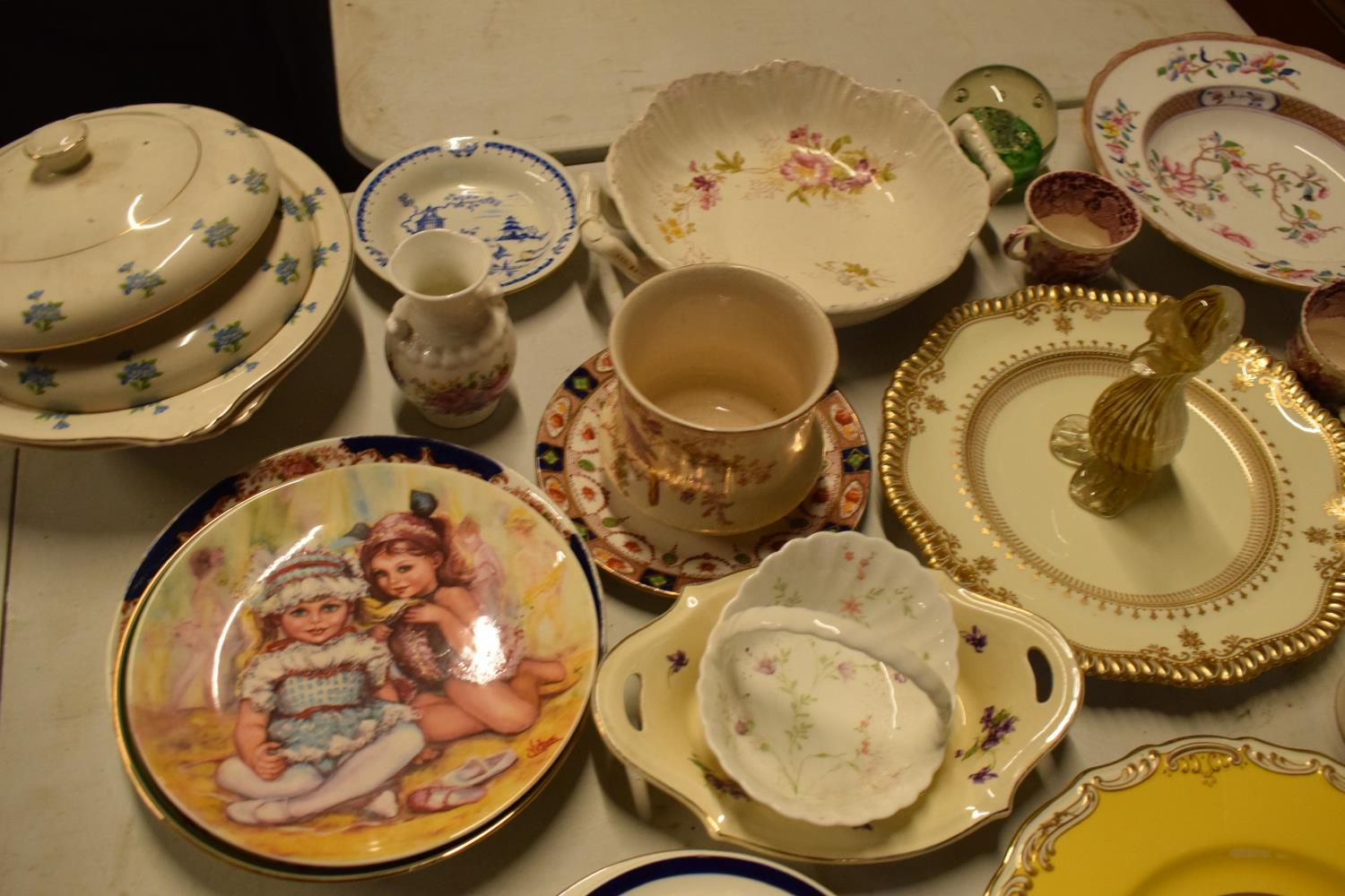 A mixed collection of items to include Caithess, Spode, Sadler, Worcester etc Condition is mixed. No - Image 2 of 3
