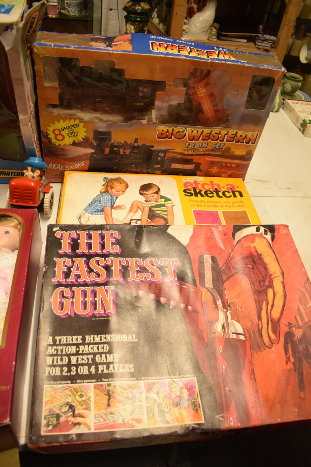 A mixed collection of items to include childrens toys, dolls, modern Corgi cars etc (lots of wear) - Image 2 of 5