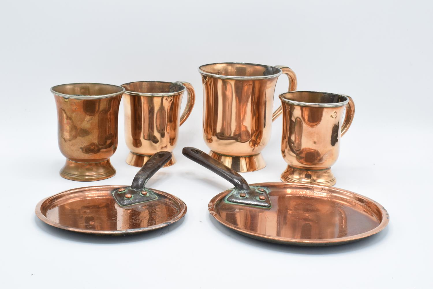 A collection of Askew Maker of Nottingham tankards (1/2 pint, pint etc) together with 2 victorian