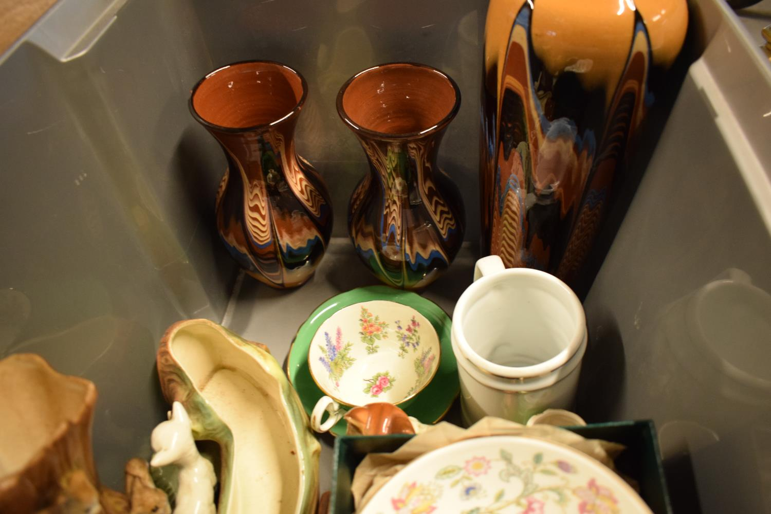 A mixed collection of items to include Murano style fish, Minton Haddon Hall Bowl, Hornsea etc. - Image 2 of 3