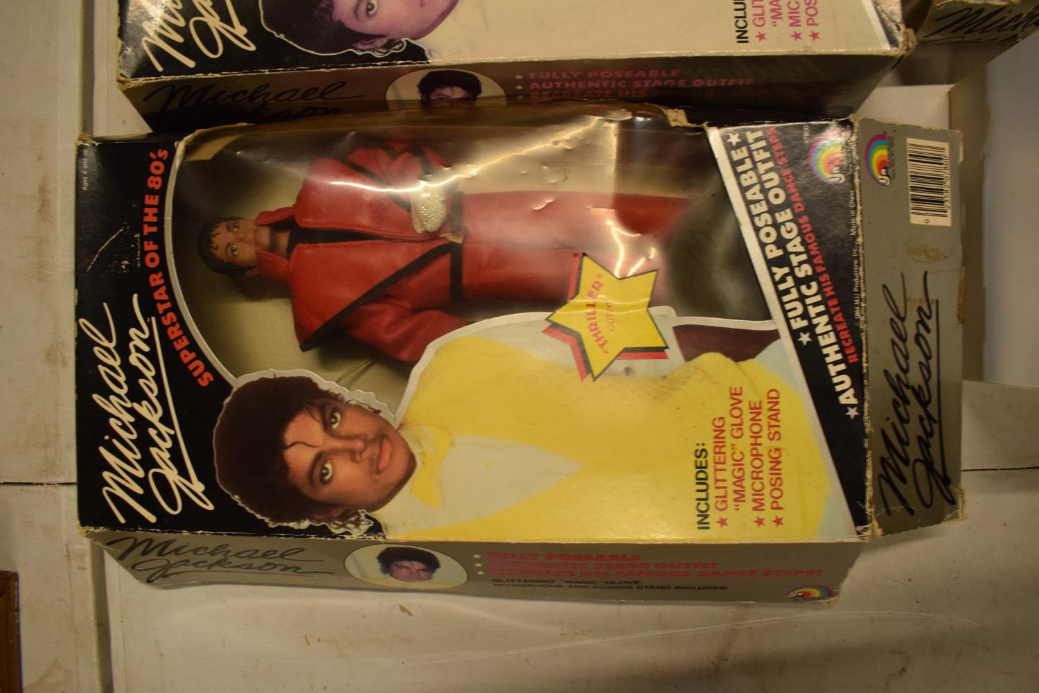 A collection Michael Jackson figures and toys to include 'BAD' figure, electronic microphone and - Image 7 of 9