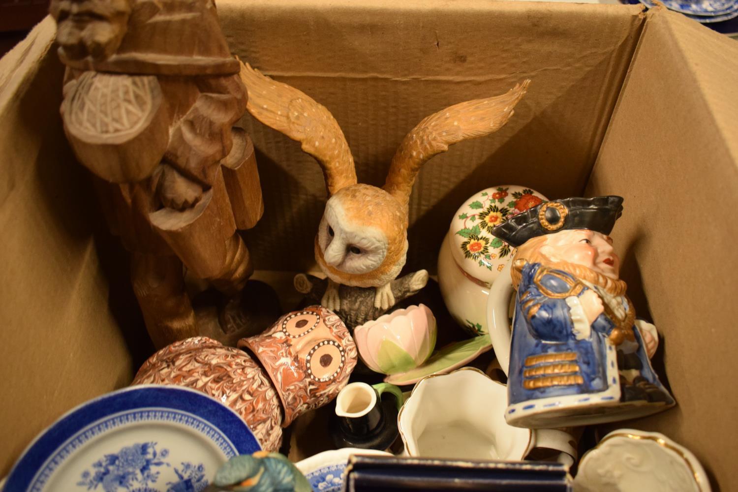 A mixed collection of items to include Spode, Carlton Ware, toby jugs, silver plate etc . - Image 2 of 3